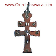 CROSS SMALL HAND CARVED CARAVACA SIZE MEDIUM - CRAFTS