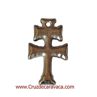 CROSS SOLID SILVER METAL CARAVACA