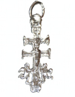 CRUZ DE CARAVACA DE PLATA