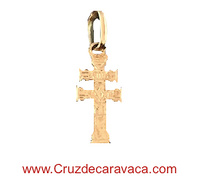 GOLD CARAVACA CROSS 18 KILATES SMALL TO HANG