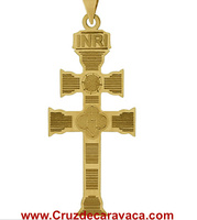 GOLDEN CROSS CARAVACA 18 KLTs LASER ENGRAVED  ON BOTH SIDES