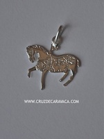 HORSE OF THE WINE OF SILVER OF PENDANT CARAVACA DE LA CRUZ