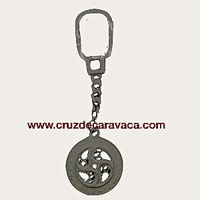 KEYCHAIN ​​SILVER CROSS WINDOW APPEARANCE CARAVACA