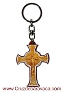 LEATHER CROSS  PENDANT WITH STAND NEOCATECHUMENAL