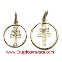 MEDALLA CRUZ DE CARAVACA DE PLATA CORDON LISO