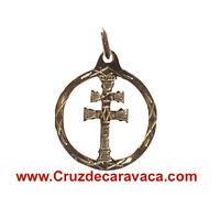 MEDALLA CRUZ DE CARAVACA ORO