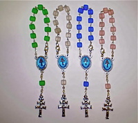 MYSTERIES FOR THE ROSARY WITH CROSS CARAVACA (4 UNITS)