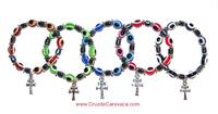 OCCHIO TURCO È CROCE DI CARAVACA BRACCIALE  E -Scelta di 5 colori-