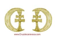ORECCHINI ORO CRESCENT CROCE DI CARAVACA PER DONNA