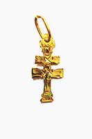 PENDANT CROSS OF CARAVACA MAKE IN GOLD 3165