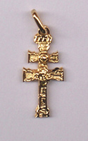 PENDANT CROSS OF CARAVACA OF GOLD 1020