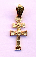 PENDANT CROSS OF CARAVACA OF GOLD 1021