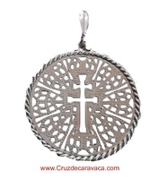 PENDANT MEDAL PUFF CROSS OF CARAVACA 01 SILVER 30024825