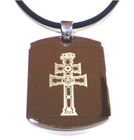 PENDANT STEEL CROSS OF CARAVACA MXS 0015