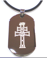 PENDANT STEEL CROSS OF CARAVACA MXS 0016