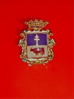 PIN CARAVACA OD THE CROSS  SHIELD ENAMEL CROSS CARAVACA