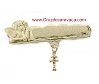 PIN CROSS OF CARAVACA GOLD BABY