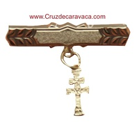 PIN CROSS OF CARAVACA GOLD BABY