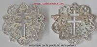 PIN MEDAL CROSS OF CARAVACA DE SILVER PUFF F3486