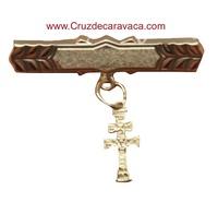 PIN SPILLA CROCE DI CARAVACA ORO BABY