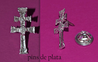 PINS CRSS OF CARAVACA MADE SILVER
