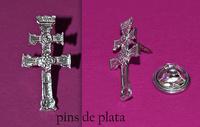 PINS CRUZ DE CARAVACA PLATA