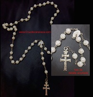 ROSARY CROSS OF CARAVACA ACCOUNTS WITH ROSES PEARLS