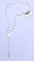 ROSARY CROSS OF CARAVACA MADE IN  SILVER AND PEARL ROS 01