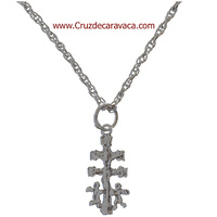 SET IN SILVER LACE AND CROSS CARAVACA