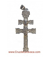 SILVER CARAVACA CROSS WITH  CIRCONITES STONES