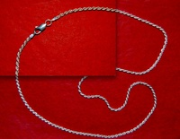 SILVER CORD AND CLOSING OF SILVER SIZE 2 MM AND 45 CMS LONG
