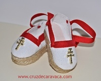 SLIPPER ALPARGATAS WITH CROSS OF CARAVACA