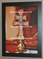 TABLE CARAVACA CROSS PHOTO FRAME IN BLACK GR