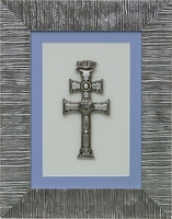 TABLE CARAVACA CROSS SILVER BATHROOM ON GLASS AND SILVER UNDER STRESS
