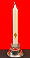 VETRO candeliere e CANDELA Caravaca Croce d'Oro